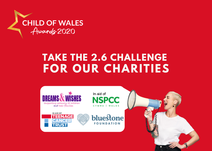 Take the 2.6 challenge for our charities