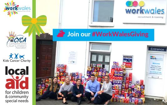 Work Wales deliver Easter spirit to children